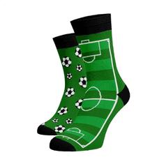 BENAMI Veselé ponožky Fotbal Zelená Bavlna 39-41