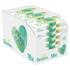 Pampers Coconut Pure dětské čisticí ubrousky 18 balení = 756 ubrousků