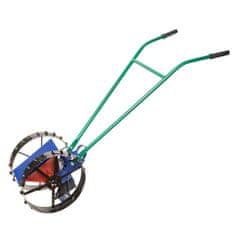Jednořádkový mechanický secí stroj, použitelný pro širokou škálu osiv