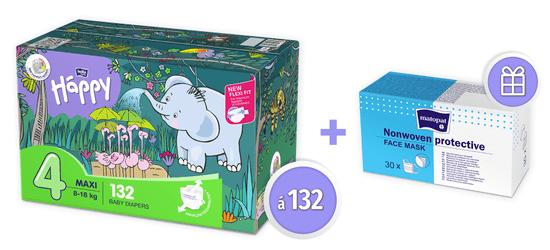 Bella Happy pieluszki 4 Maxi Box (8-18 kg), 132 szt.