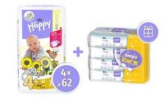 Bella Happy 4+ (Maxi Plus) Big Pack (9-20 kg) 248 ks (4x62 ks)