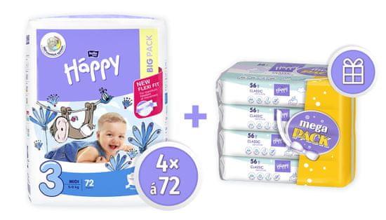 Bella Happy 3 Midi Big Pack - 288 szt.