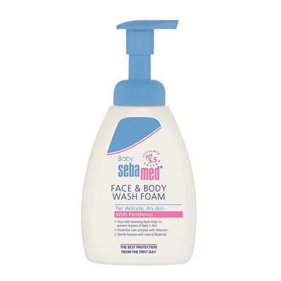 Sebamed Detská umývacia pena na tvár a telo Baby(Face & Body Wash Foam) 400 ml