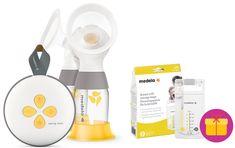 Medela Swing Maxi NEW - elektrická odsávačka mléka double, 2-fázová + dárek (sáčky na skladování mléka 25 ks)