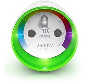 FIBARO Spínacia zásuvka s meraním, 2,5 kW, Z-Wave Plus FIB-FGWPE-102-ZW5