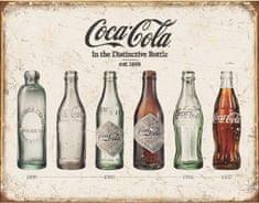 TIN SIGNS Retro plechová ceduľa Coke Bottle Evolution (TSN1839)