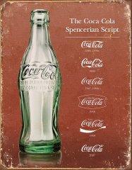 TIN SIGNS Retro plechová ceduľa Coke Script Heritage (TSN1952)