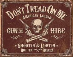TIN SIGNS Retro plechová ceduľa DTOM Gun for Hire (TSN2007)