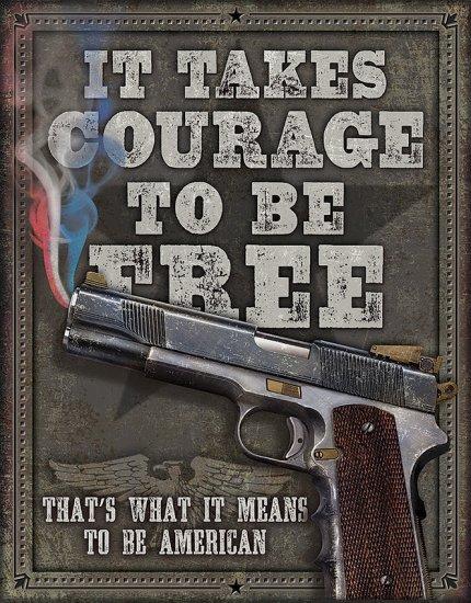 TIN SIGNS Retro plechová ceduľa Courage To Be Free (TSN2044)