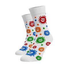 BENAMI Veselé ponožky Koronožky Bílá Bavlna 39-41