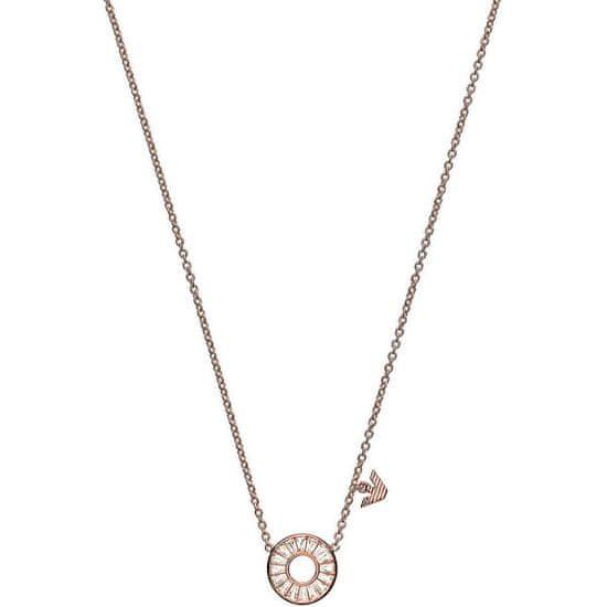 Emporio Armani Luxusní bronzový náhrdelník EG3457221 stříbro 925/1000