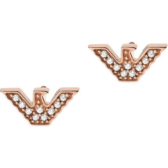 Emporio Armani Luxusní bronzové náušnice EG3466221