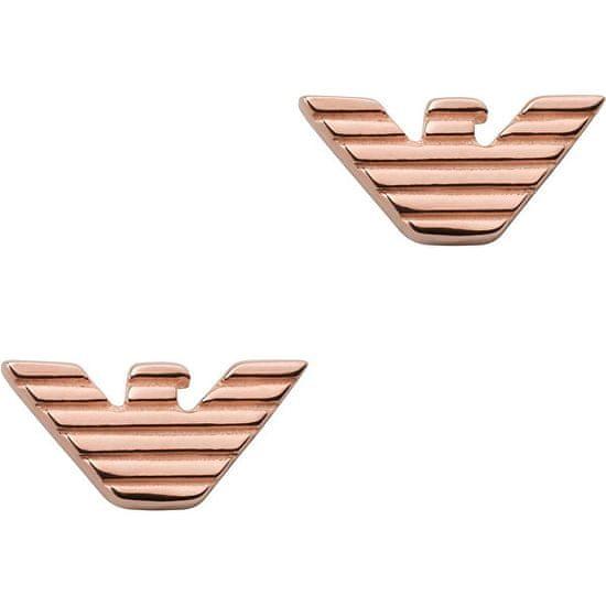 Emporio Armani Stylové bronzové náušnice EG3505221