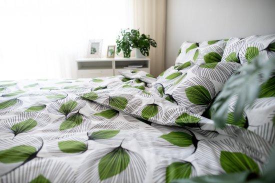 Jahu posteljnina Listi, zelena