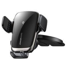 Joyroom Auto Match CD Drive držák na mobil do auta, Qi nabíječka 15W, černá