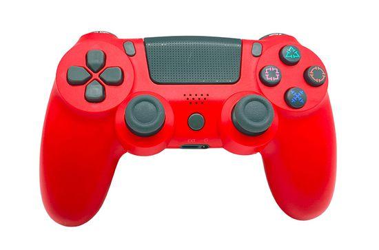 T-GAME DS6 červený bezdrôtový herný ovládač pre PS4 a PC
