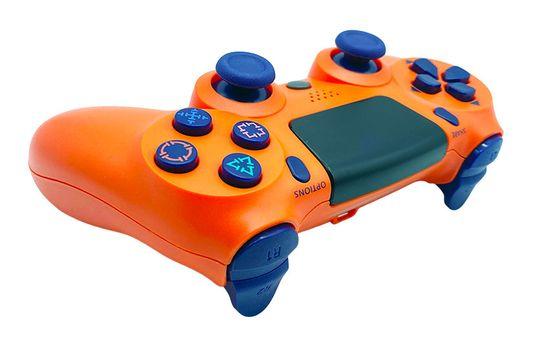 T-GAME DS6 oražový bezdrôtový herný ovládač pre PS4 a PC