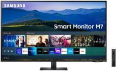 Samsung S43AM700U Smart M7 monitor, 108 cm, VA, 4K UHD, USB-C, WiFi (LS43AM700UUXEN)
