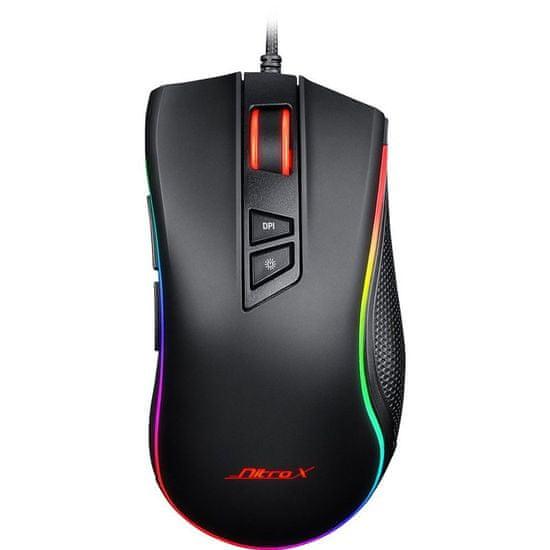 Inter-tech Nitrox GT-300+ gaming miš, RGB, USB