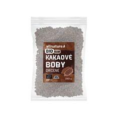 Allnature RAW BIO Drvené kakaové bôby 200 g