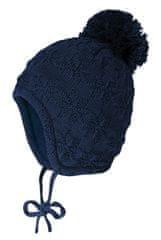 Maximo dívčí čepice s bambulí se zavazováním Janne 75578-188700 41 tmavě modrá