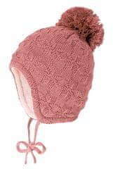 Maximo dívčí čepice s bambulí se zavazováním Janne 75578-188700_1 41 růžová