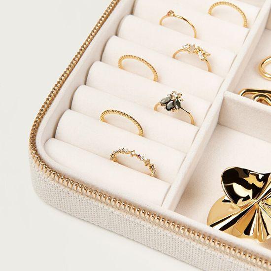 PDPAOLA Izvirna škatla za nakit v bež barvi SUPREME Box Treasure AC01-006-U