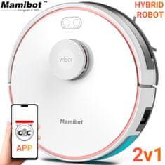 Mamibot Exvac880 robotski sesalnik, hibrid, LDS4.0, laser tehnologija, bel
