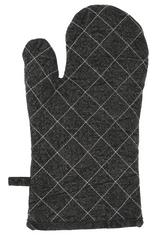 Koopman Excellent kuhinjska rokavica, bombažna, 17x32 cm, temno siva