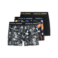 Jack&Jones 3 PACK - moški boksarji JACSUGAR 12185485 Black (Velikost S)