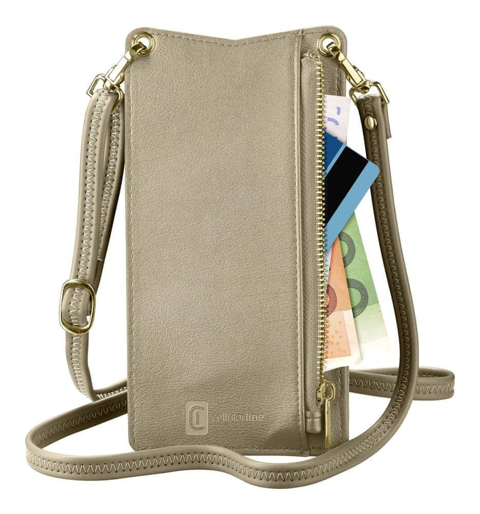 CellularLine Pouzdro na krk Mini Bag pro mobilní telefony MINIBAGZ, bronzový