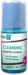 Clean IT čistící roztok na obrazovky s utěrkou ve víčku CL-180, 200 ml