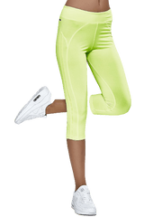 TFG Športové 3/4 legíny v neonovo zelenej farbe EB012 Veľkosť: S