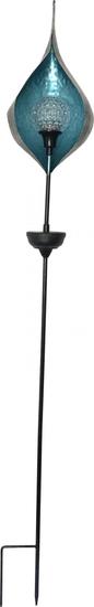 Koopman solarna LED svijetiljka s rotirajućom kuglom 17 x 130 cm, plava
