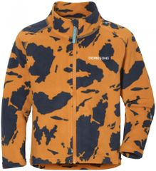 Didriksons1913 detská fleecová mikina D1913 Monte Print 503925-990 80 oranžová