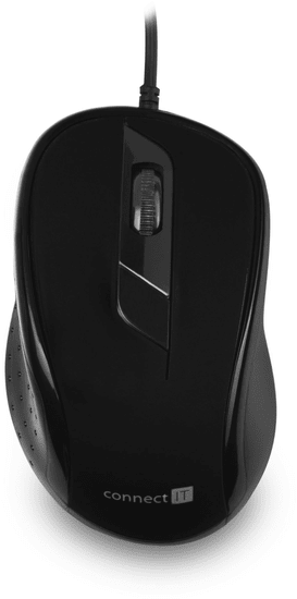 Connect IT Drátová optická myš, čierna (CMO-1200-BK)