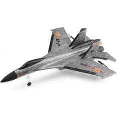 FM electrics SU-27 RC letadlo s 3D stabilizací a ovládanou výškovkou, 335mm, RTF, šedá