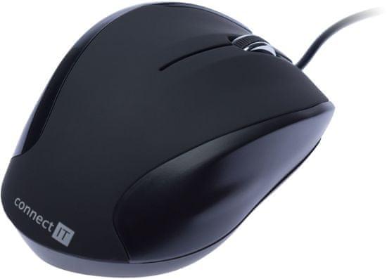Connect IT 3023 myš + gelová podložka, čierna (CI-77)