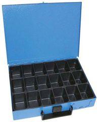 Dresselhaus Kufor na spotrebný materiál 330x230x50 mm, 18 priehradiek, plechový