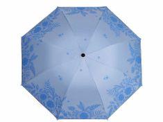 Kraftika 1ks 3 modrá sv. dámský skládací deštník květy