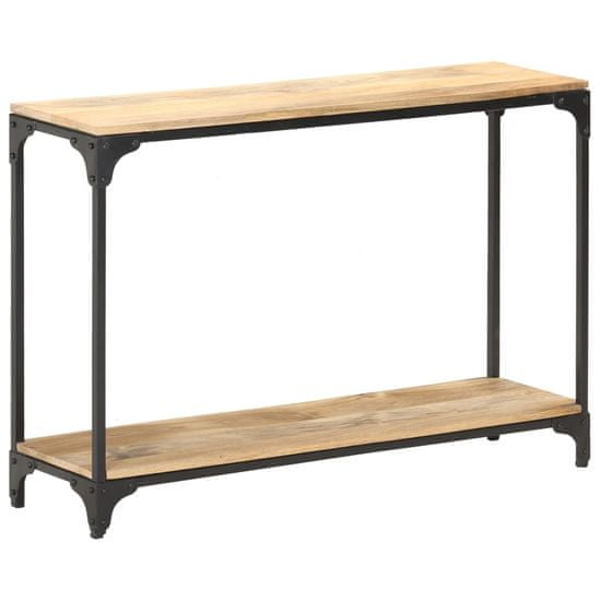 shumee Konzolový stolík 110x30x75 cm masívne mangoníkové drevo