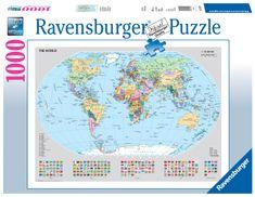 Ravensburger puzzle Polityczna mapa świata, 1000 elementów