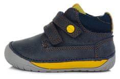 D-D-step chlapecké barefoot kožené kotníčkové tenisky S070-520 20 modrá
