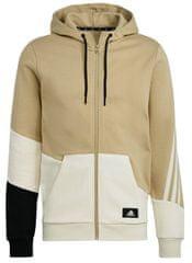 Adidas Mikina Sportwear Colorblock Hoodie Béžová / Černá, XL