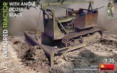 MiniArt U.S. Armored Tractor w/ Angle Dozer Blade 1/35