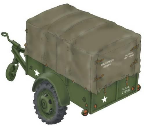 """Special Hobby WW.II US Cargo Trailer """"Ben Hur"""" 1/72"""