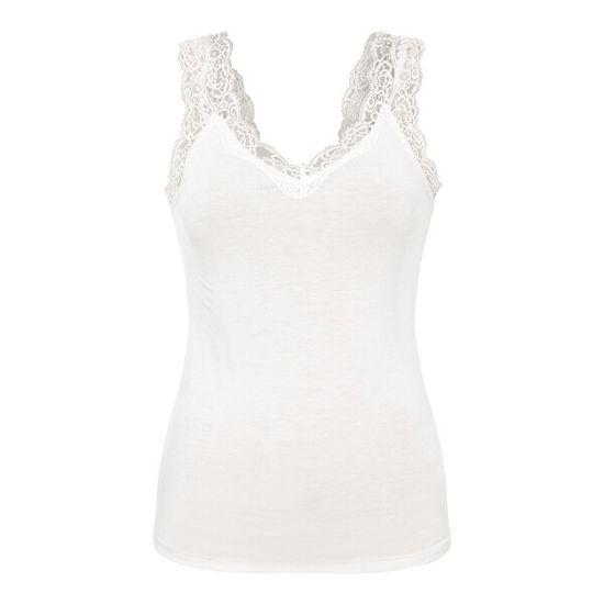 Pieces Női trikó PCBARBERA 17106017 White