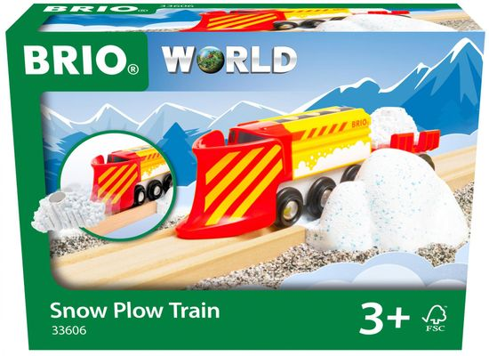 Brio pociąg z pługiem śnieżnym WORLD 33606