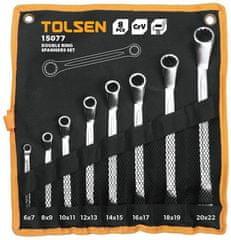 Tolsen Tools Sada 8ks očkových kľúčov 6*7-20*22 mm, TOLSEN - INDUSTRIAL