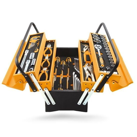 Tolsen Tools Sada náradia 60 dielna v plechovom boxe, TOLSEN